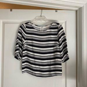 Ella Moss Striped 3/4 Sleeve Blouse